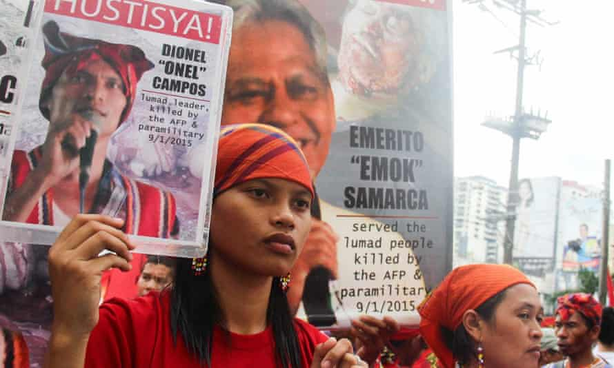 Michelle Campos says her father and grandfather were publicly executed in September 2015 for opposing mining in Mindanao, Philippines.