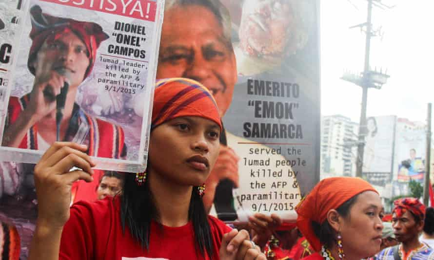 Michelle Campos, whose father, grandfather and teacher were killed for opposing mining in Mindanao, the Philippines