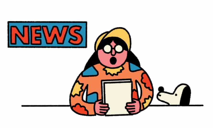 Nav is reading the news!