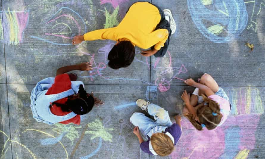 Chalk drawing is one of the banned activities. Bike riding, hockey, baseball and other sports are also prohibited.