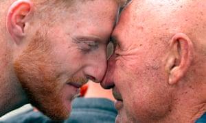 Ben Stokes receives a Maori greeting