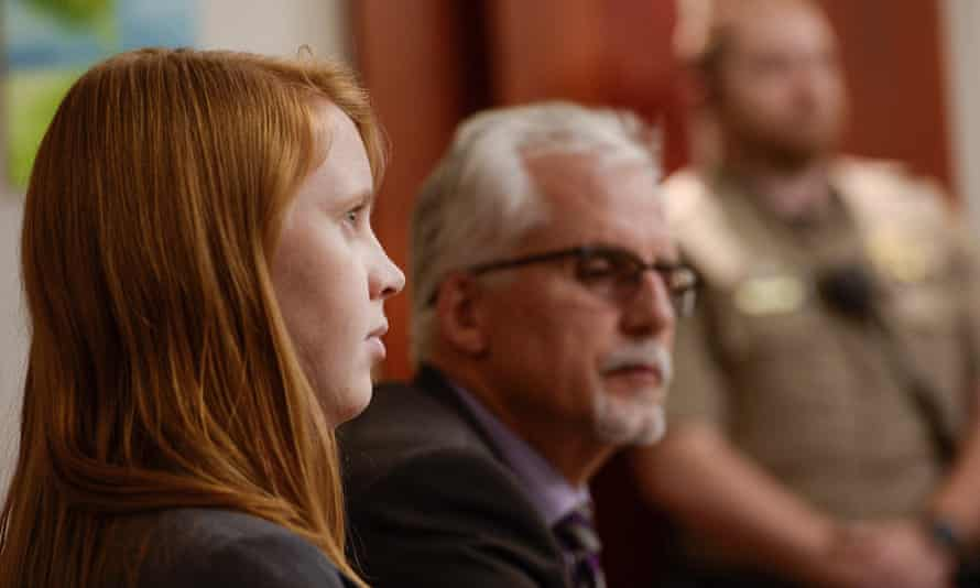 Tilli Buchanan, left, sits in court with Randy Richards, her attorney, in November.