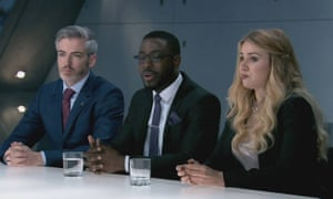 Samuel Brooksworth, with Dillon St Paul and Alana Spencer, on BBC One's The Apprentice in 2016.