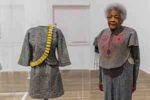 Jae Jarrell with her Revolutionary Suit, remade 2010, in London.