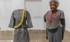 Jae Jarrell with her Revolutionary Suit, remade in 2010.