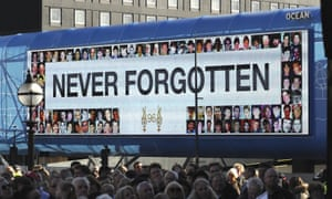 The Hillsborough vigil in Liverpool in April this year.