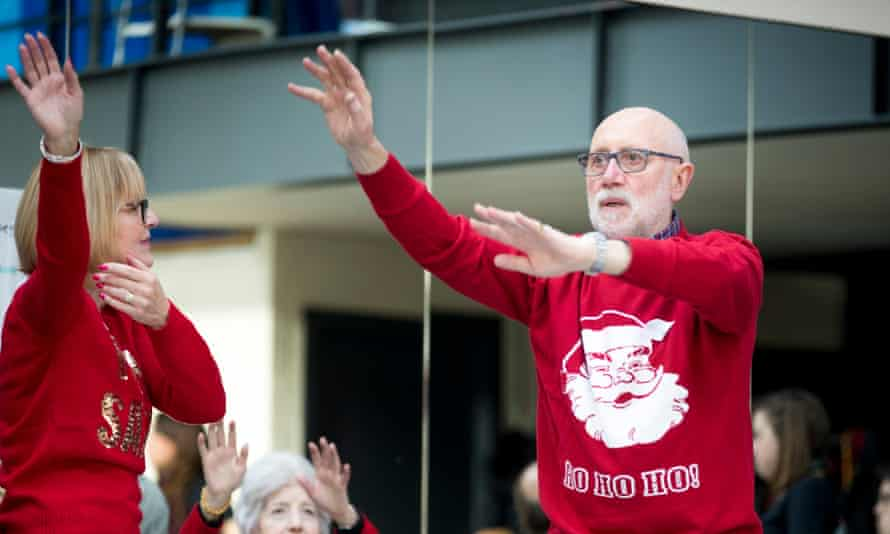 John Varty takes part in a Parkinson's Can Dance class.