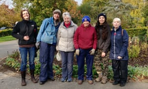 Sirin joined the gardening volunteers at the William Morris Gallery, east London.