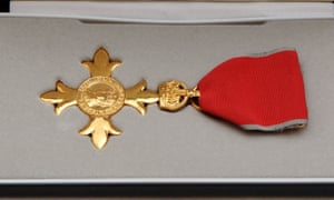 The OBE medal