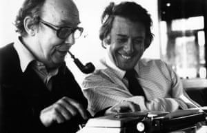Michael Freedland, right, collaborated with Eric Morecambe on the comedian's book There's No Answer to That!