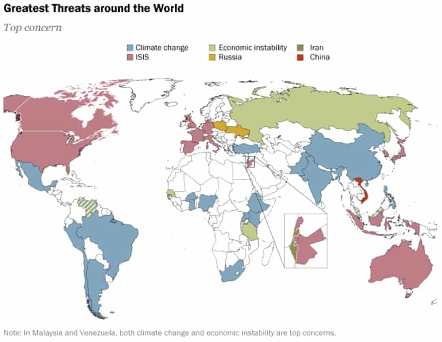 Colour-coded map from Pew Research Center