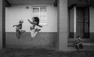 Girls jumping rope in Cape Town