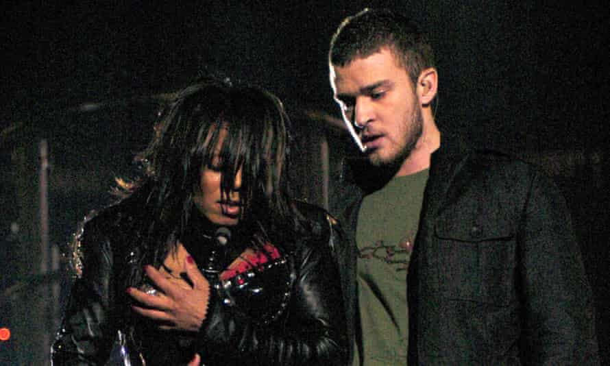 Timberlake with Janet Jackson at the Super Bowl halftime show.