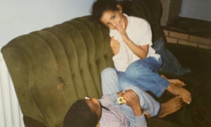 Sarah with her brother.