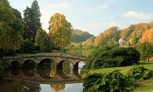 The Bridge and Lake at Stourhead, Wiltshire