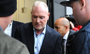 Paul Gascoigne arrives at Dudley magistrates court in the West Midlands