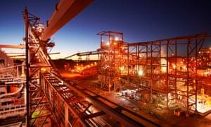 A BHP Billiton processing plant near the Olympic Dam mine in South Australia