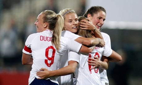 England Women's Georgia Stanway scores on debut in win against Austria