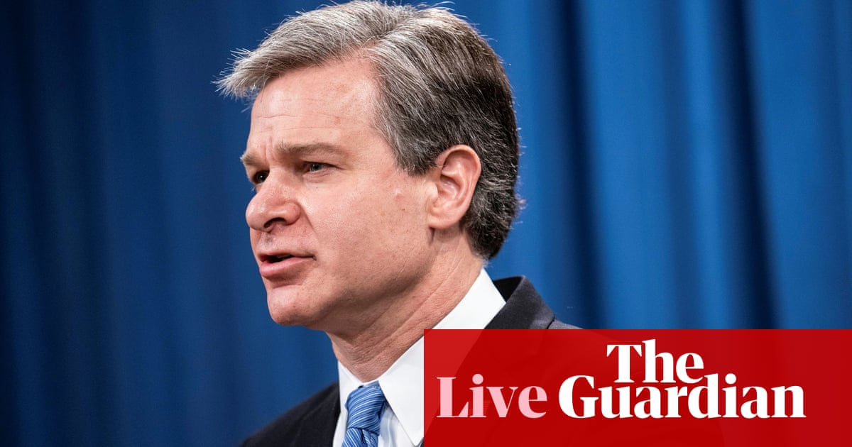 FBI director Christopher Wray to testify over Capitol insurrection – live updates