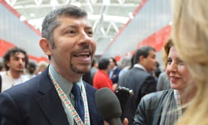 Democratic party (PD) vice president, Ivan Scalfarotto, who started a hunger strike to speed up the legalisation of civil unions for gay couples in Italy.
