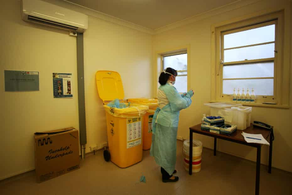 health worker in hospital