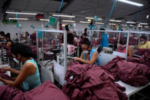 Additional safety measures such as face masks and barriers have been introduced at the textile plant.