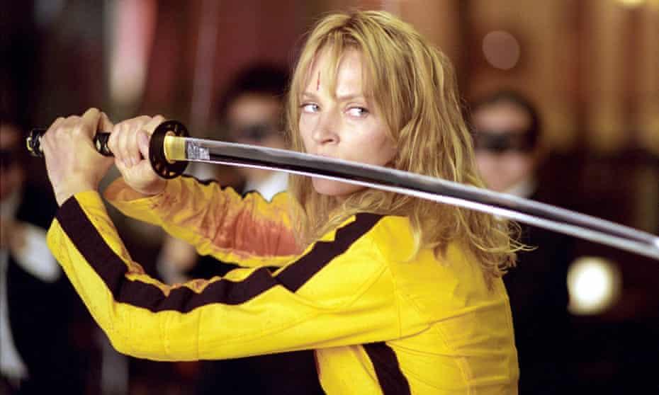 Uma Thurman in Kill Bill, which was produced by Harvey Weinstein's company.