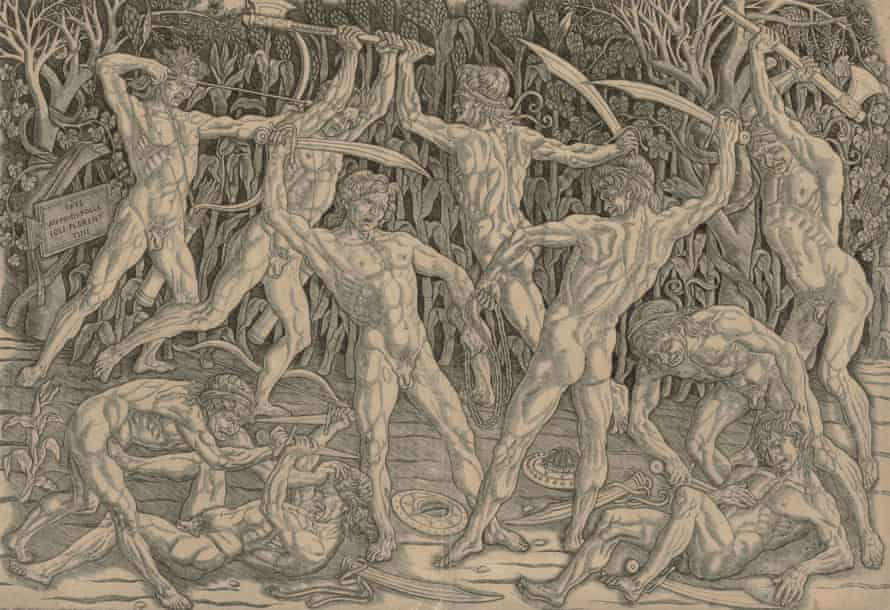 Antonio Pollaiuolo's Battle of the Nudes, 1470s.