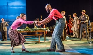 Shirley Henderson and Arinzé Kene in Girl from the North Country at the Old Vic, London