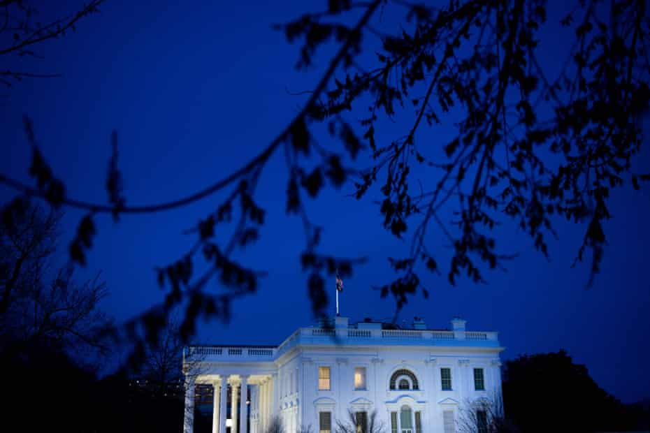 A view of the White House on March 11, 2020 when President Donald Trump made a primetime address the coronavirus crisis.