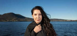 Marina Abramović outside the Museum of Old and New Art, Hobart.