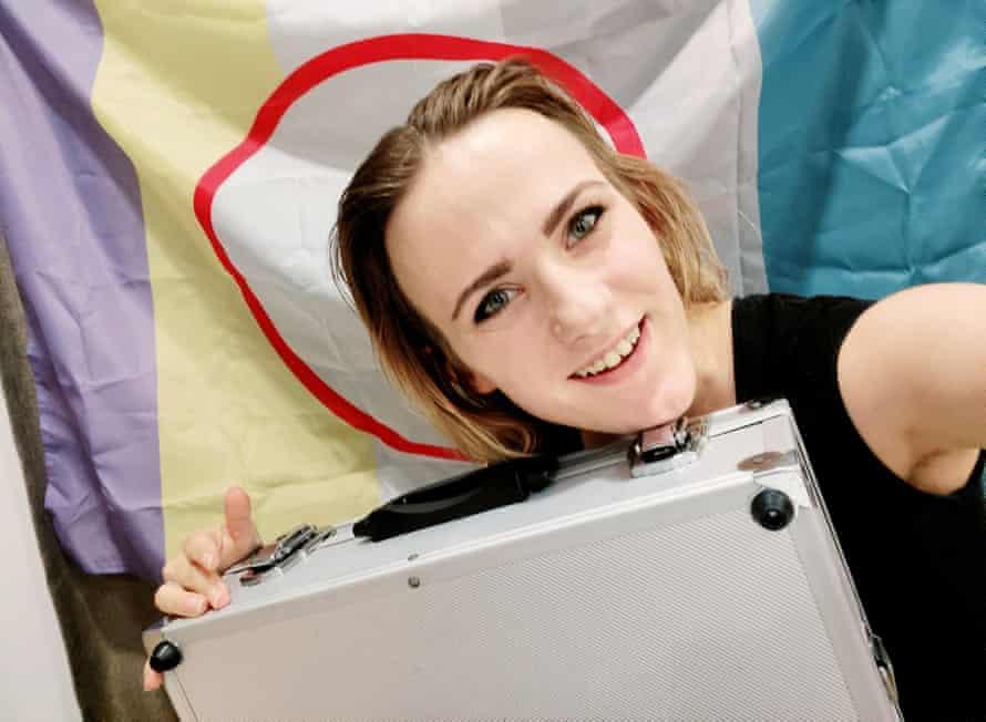 Rain Gordon, 24, the Russian who married her briefcase, Gideon.