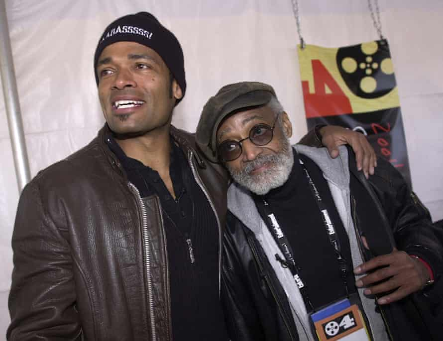 Melvin with his son Mario Van Peebles at the Sundance Film Festival.
