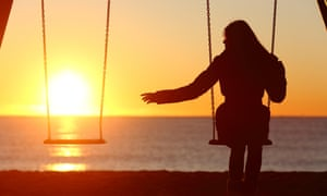 Image result for girl sitting alone on swing leaving one space empty