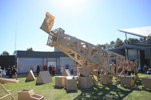The Eureka Stockade by Boxwars is erected at the Ballarat Biennale.