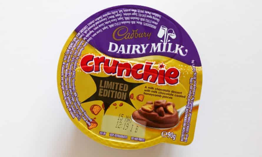 Cadbury Dairy Milk Crunchie dessert.