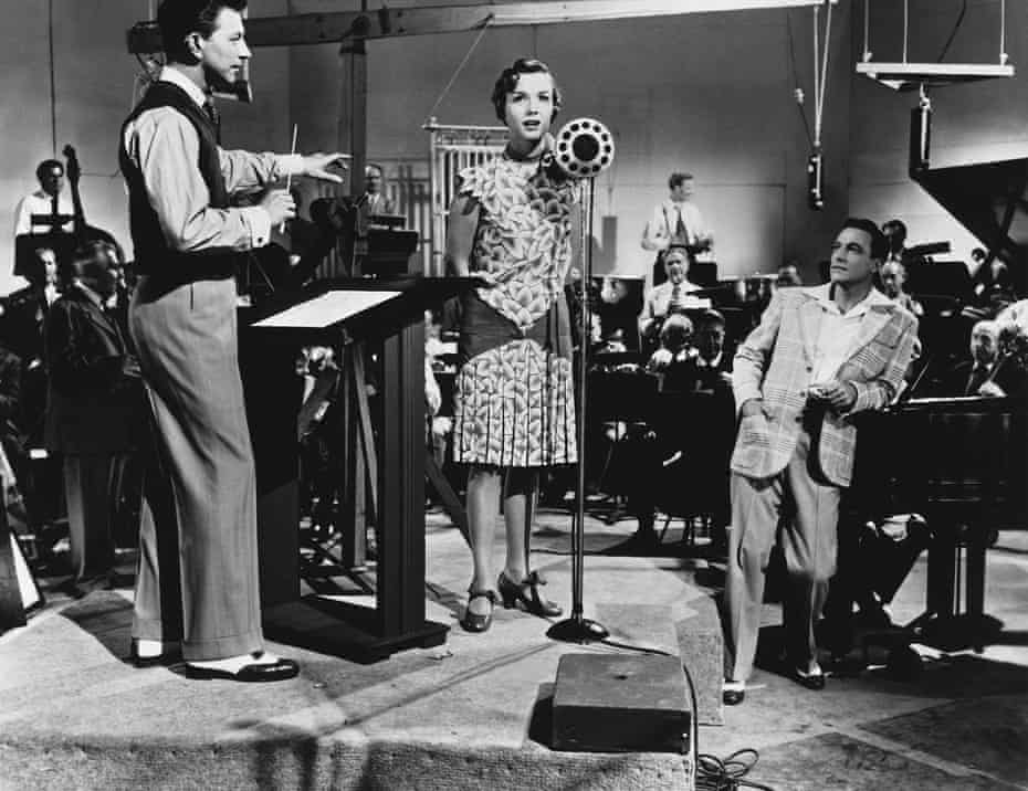 Donald O'Connor, Debbie Reynolds and Gene Kelly in Singin' in the Rain.