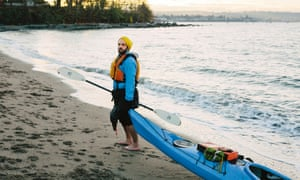 Charles Latimer and his kayak