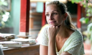Julia Roberts on a voyage of self-discovery in Eat Pray Love.
