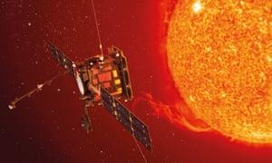 An artist's impression of the Solar Orbiter.