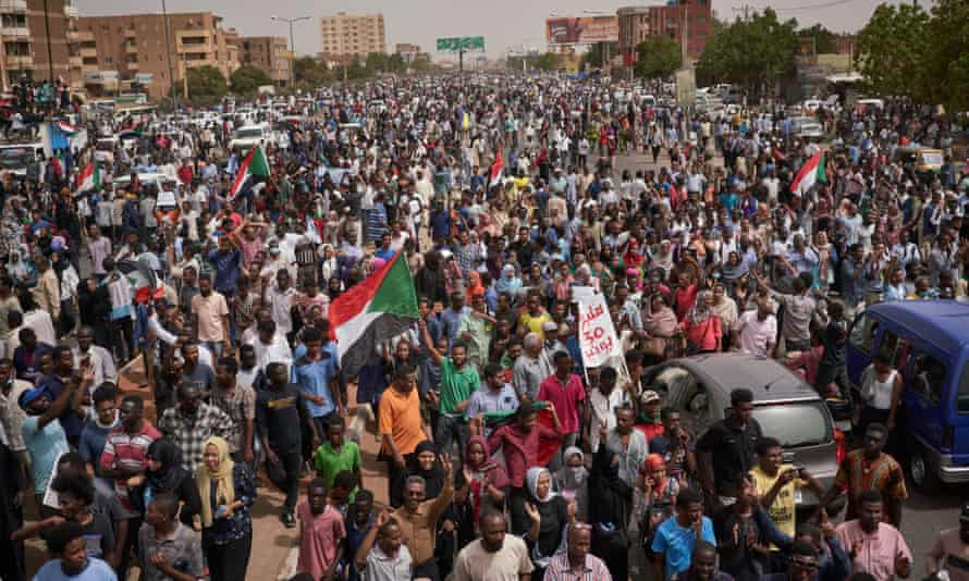 Sudanese people demonstrate inKhartoum to commemorate those who were killed.