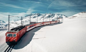 A train en route to Disentis, Switzerland.