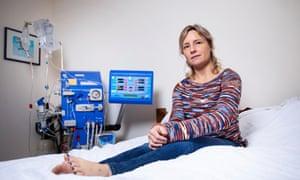 Madeleine Warren with her home dialysis machine