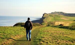 The Norfolk Coast Path approaching Skelding Hill, Sheringham.