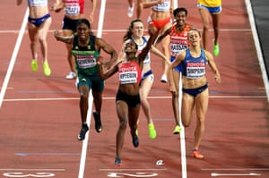 Moment of victory: Kenyan Faith Chepngetich Kipyegon takes gold in the 1500 metres final