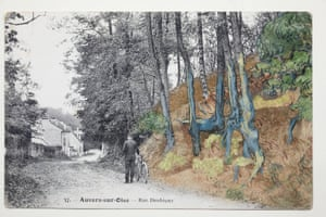 'The overgrowth on the post card shows very clear similarities to the shape of the roots on Van Gogh's painting'