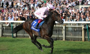 Too Darn Hot ridden by Frankie Dettori. The colt faces a strong field of seven opponents on the Knavesmire.