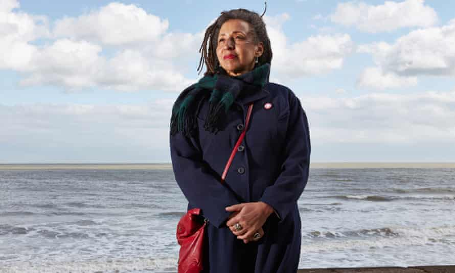 Former Momentum vice chair Jackie Walker on the seafront in Broadstairs, Kent
