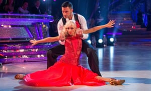 Debbie McGee and dance partner Giovanni Pernice on Saturday night's Strictly.