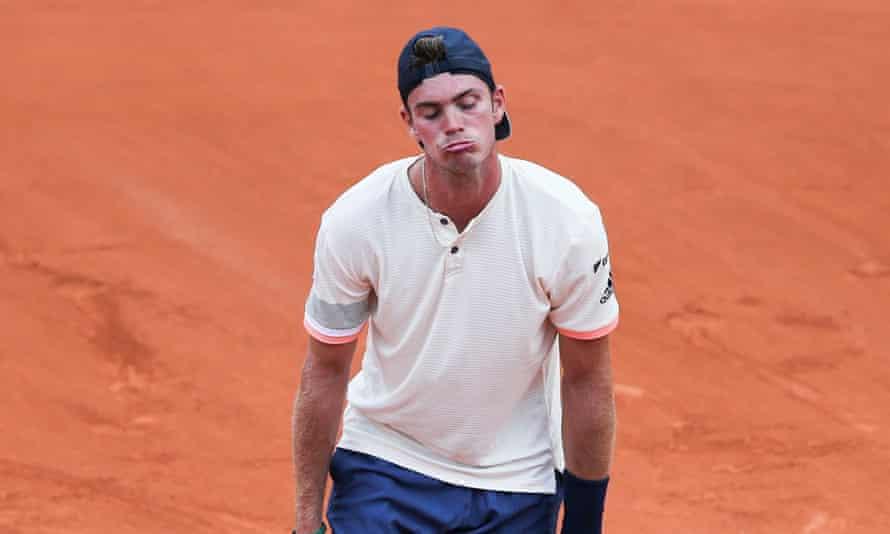 Maximilian Marterer feels the pain against Rafael Nadal.